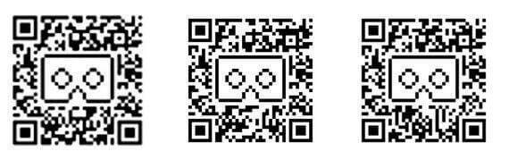 بارکد QR تمام هدست های واقعیت مجازی برای شناسایی هدست