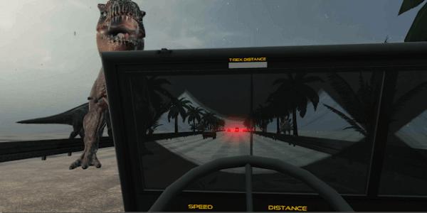 VR T-Rex Escape: Jurassic Racing Simulator