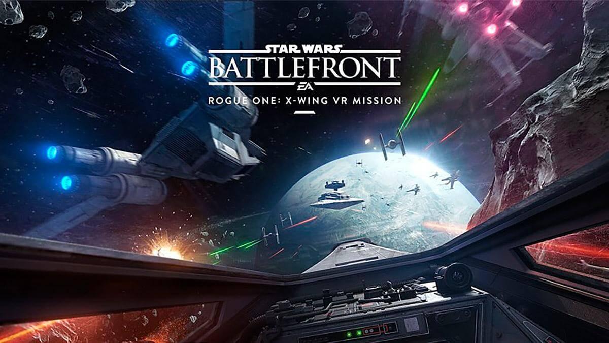 star wars battlefront rogue one x wing vr mission - فیلم واقعیت مجازی 4k با ترست مقابله کن