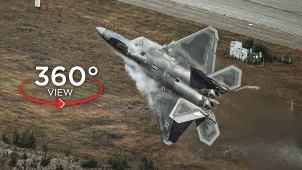 maxresdefault 7 600x338 - فیلم واقعیت مجازی 4k مانور با جت F-22