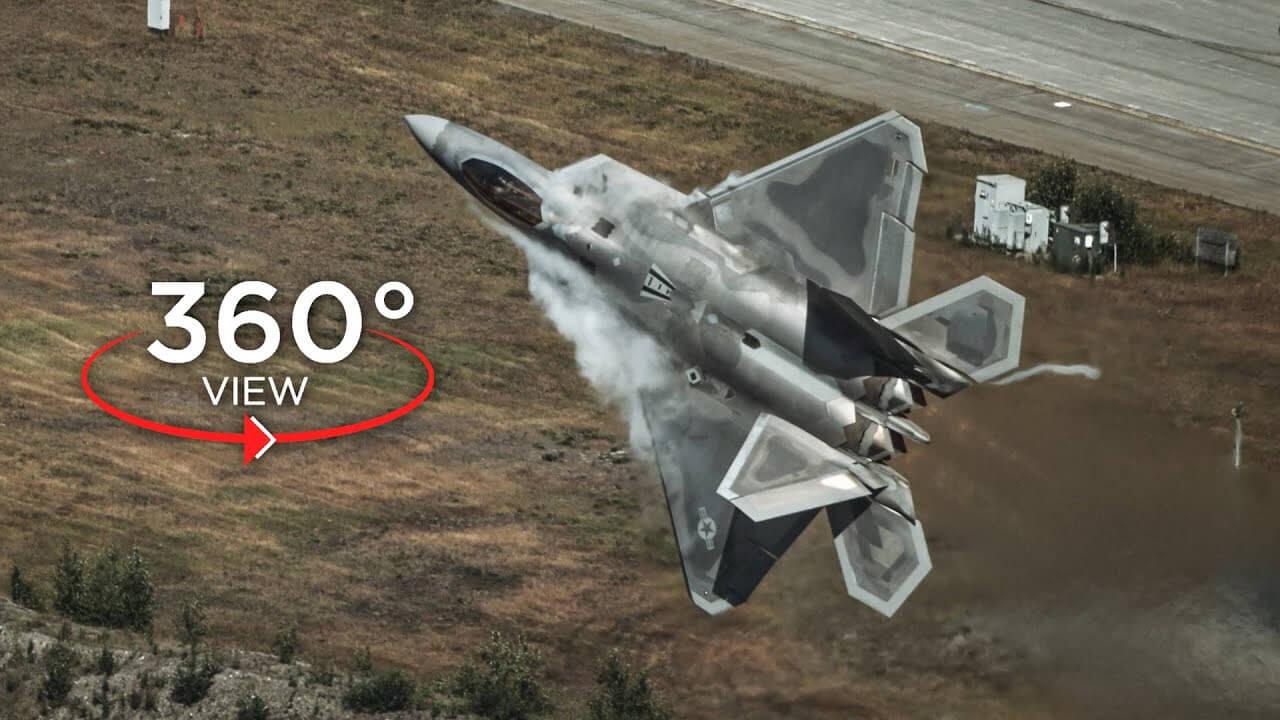 maxresdefault 7 - فیلم واقعیت مجازی 4k مانور با جت F-22