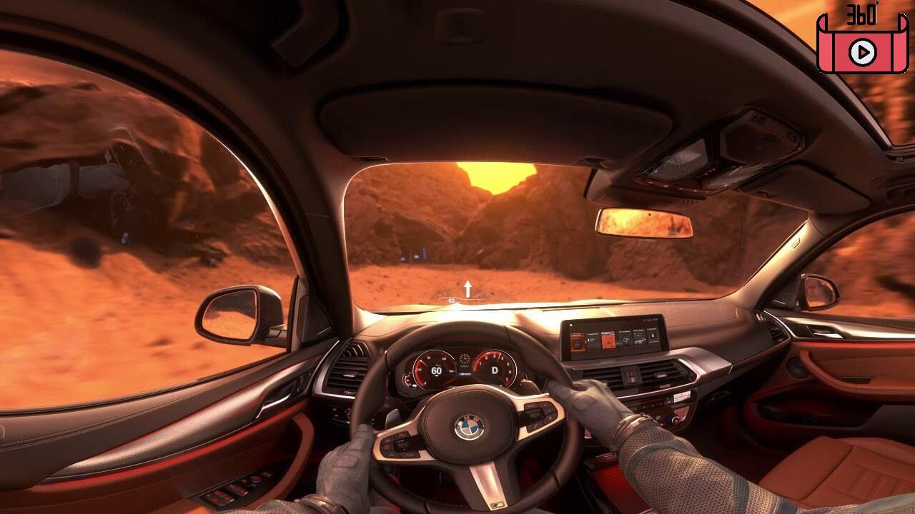 maxresdefault 10 - فیلم واقعیت مجازی رانندگی BMW X3 در مریخ!
